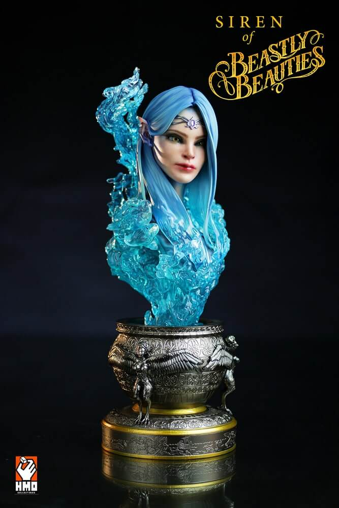 Cast Products Siren : Siren statue bust h m o collectibles