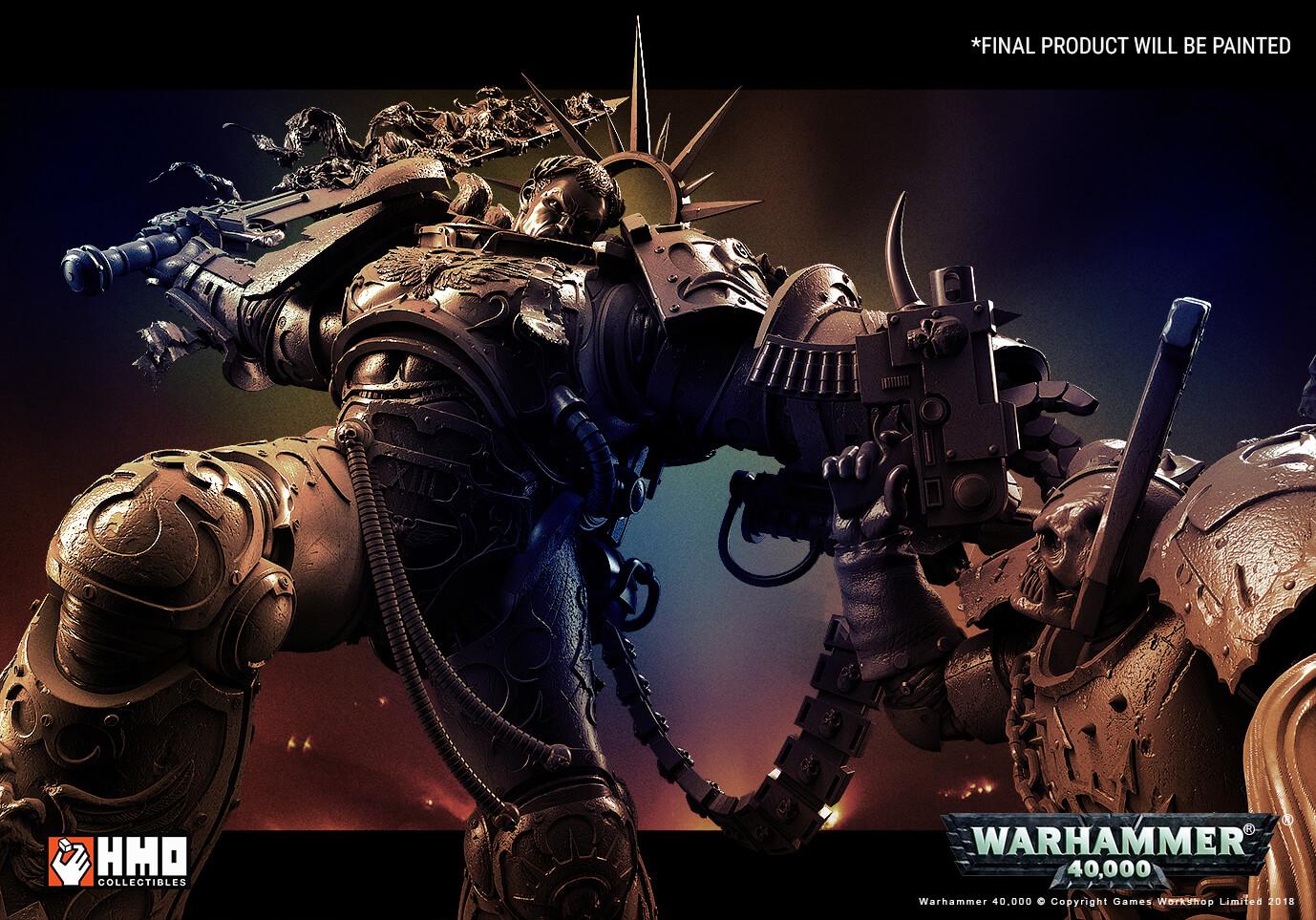 HMO's Warhammer 40,000: Guilliman vs Chaos Marine Diorama