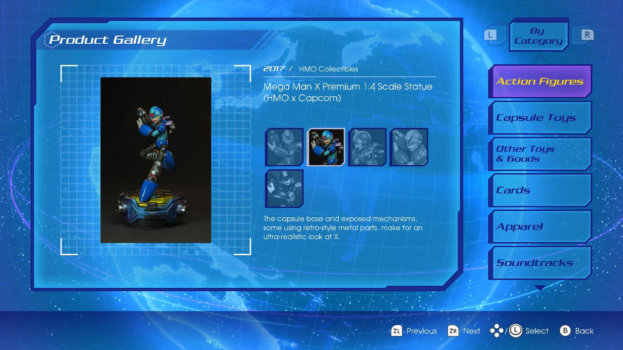 Megaman X Statue featured on Nintendo Switch: Megaman X Legacy Collection