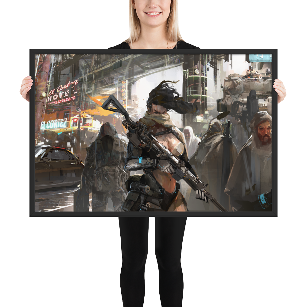 Bounties of Bathos – Ren Premium Framed photo paper poster